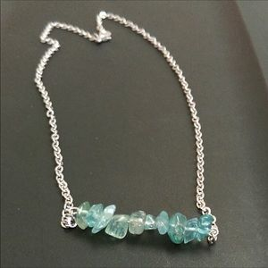Harriet Ave Jewels Jewelry - Aqua Apatite Beaded Silver Necklace